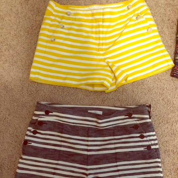 LOFT Pants - Loft sailor striped shorts